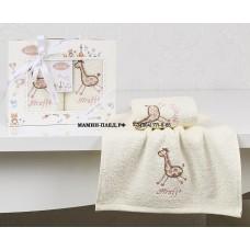 """Салфетки c вышивкой """"KARNA"""" детский BAMBINO 30х50 см 1/2 Розовый"""