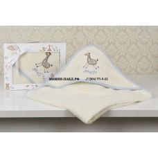 "Полотенце-конверт ""KARNA"" детский BAMBINO-GIRAFFE 90x90 1/1"