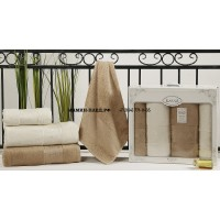 "Комплект полотенец бамбук ""KARNA"" PANDORA 50х90*2-90x150*2 1/4"