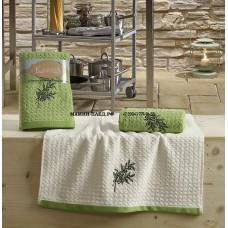 "Кухонные полотенца ""KARNA"" LEMON 45x65 1/2 Зеленый"