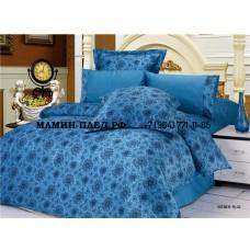 Постельное белье LE VELE сатин жатый шелк BREMEN BLUE